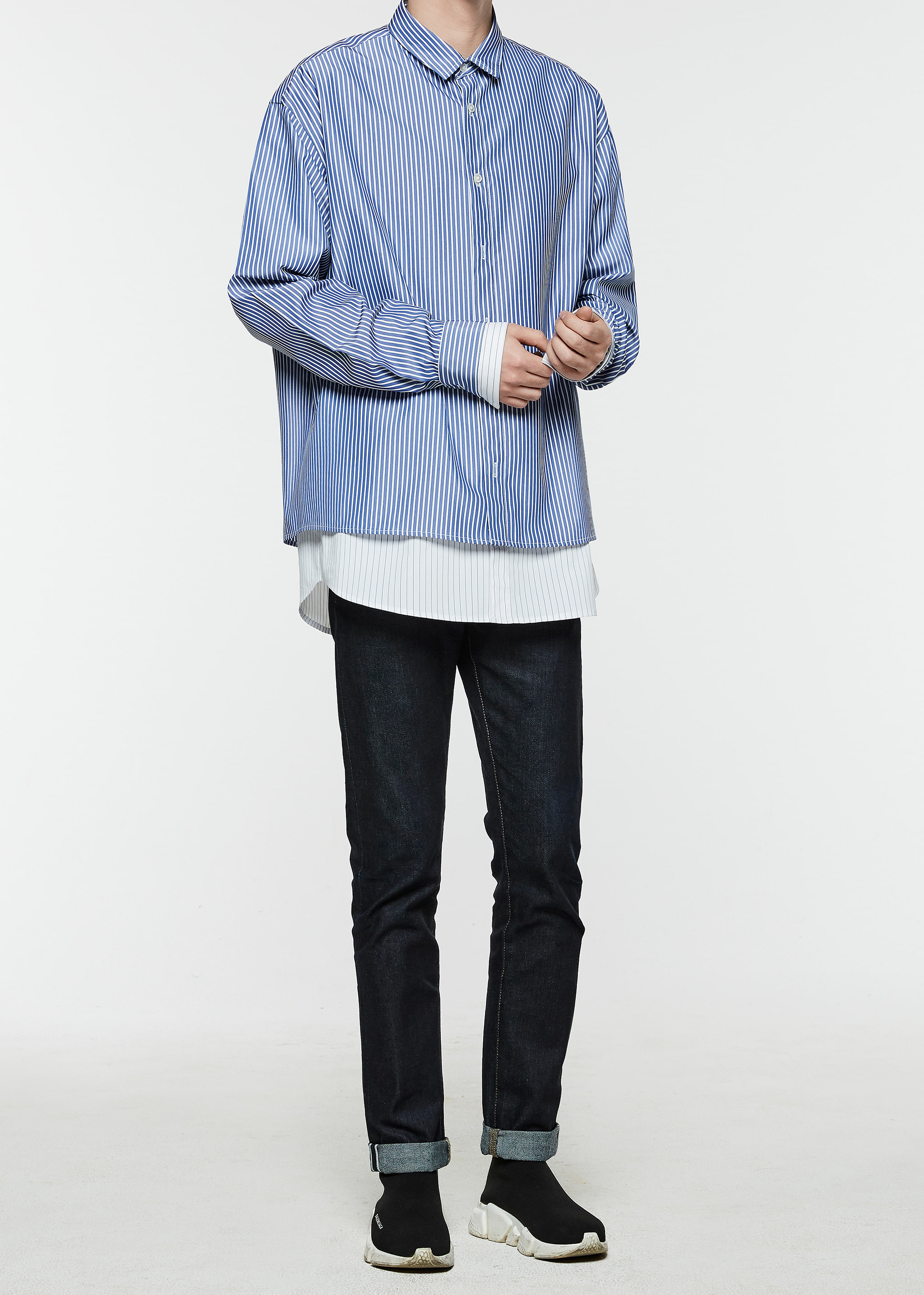 Oversize Layered Shirts (Blue)10차 재입고 완료