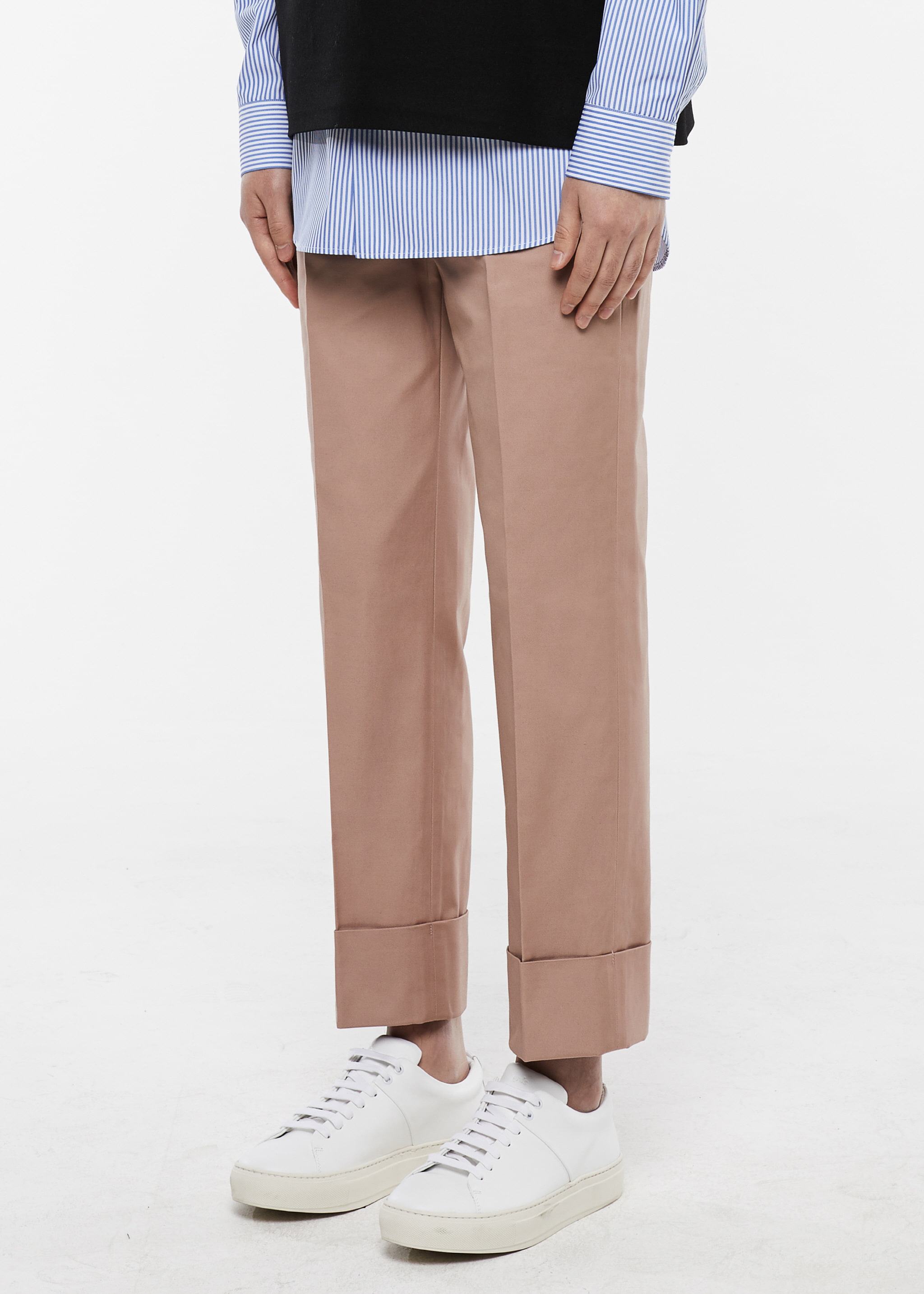[3주년 감사세일] Turnup Chino Pants (Pink Beige)