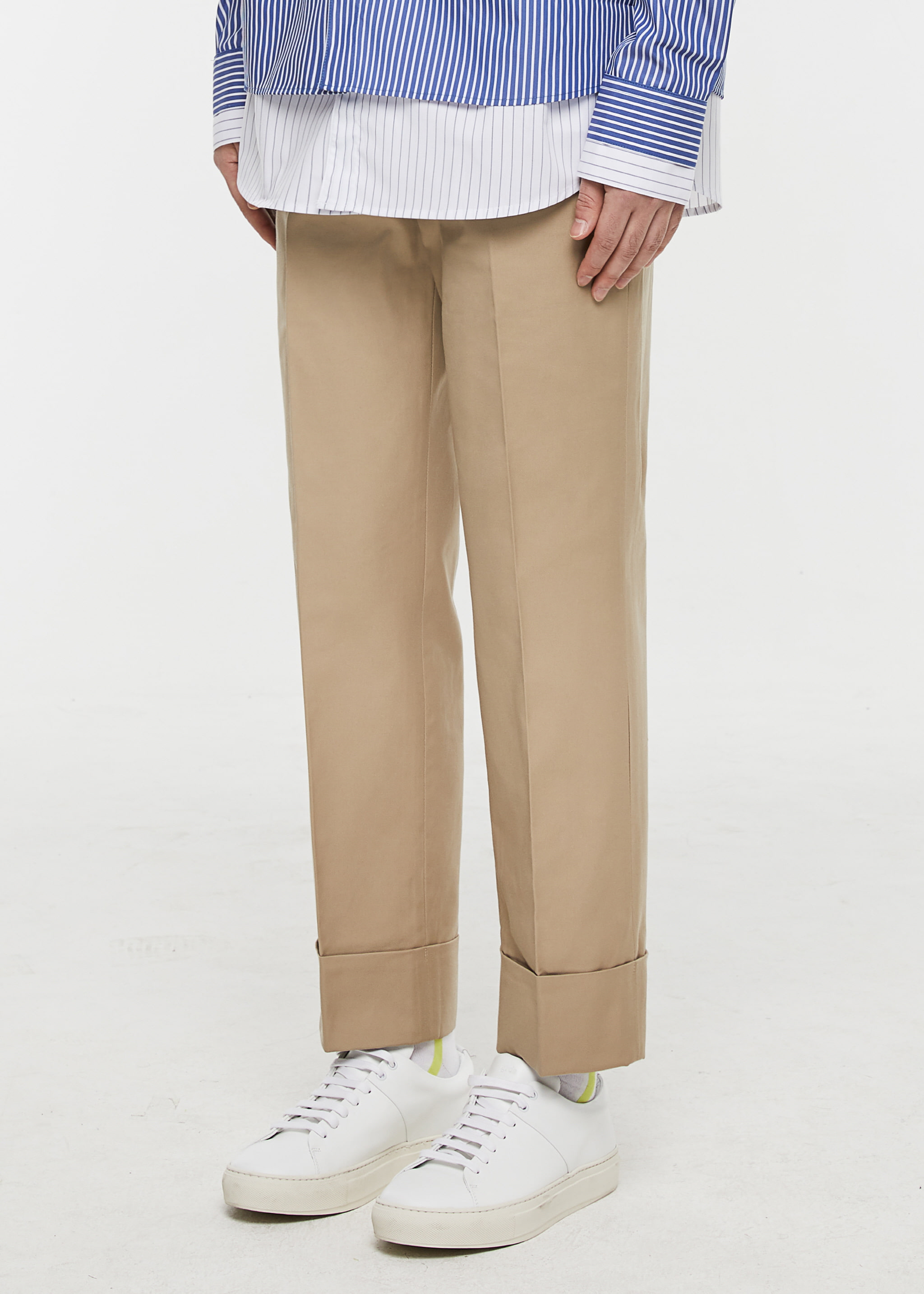 [3주년 감사세일] Turnup Chino Pants (Beige)