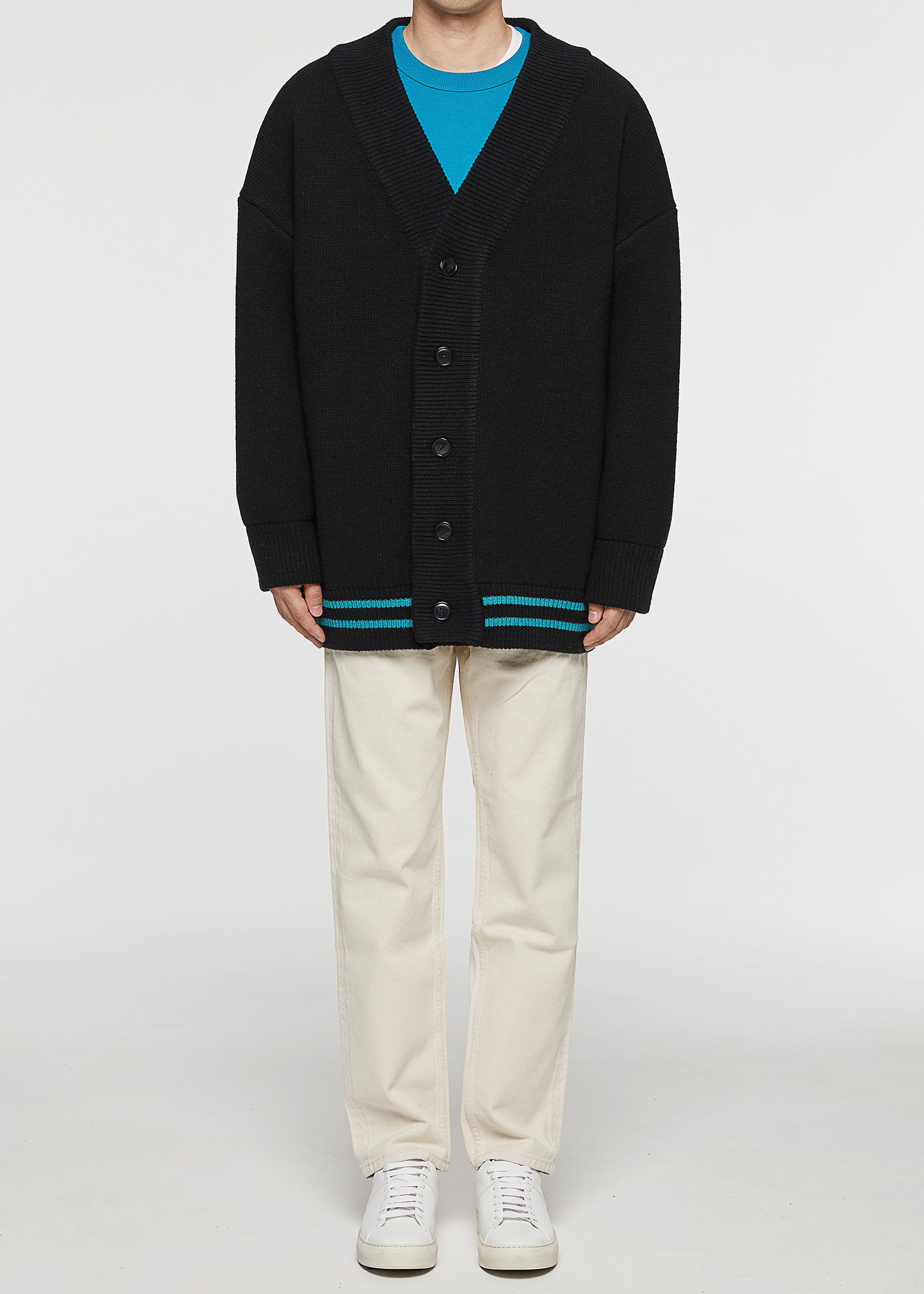 [3주년 감사세일] Oversized Minimal Cardigan (Black)